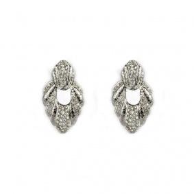18k White Gold Diamond Set Earrings